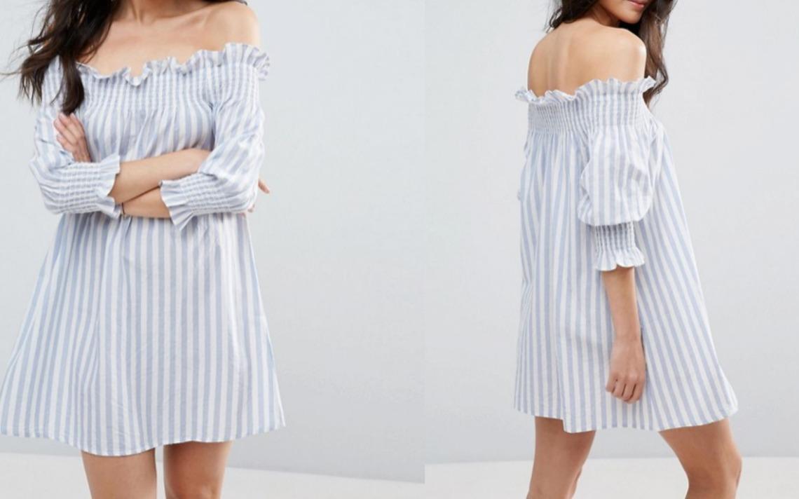 stripe-bardot-dress